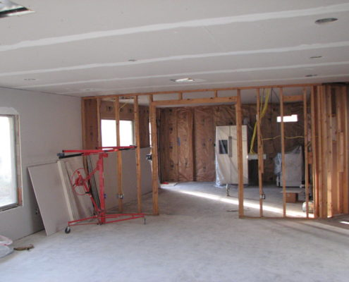 drywall installed in a house in calgary